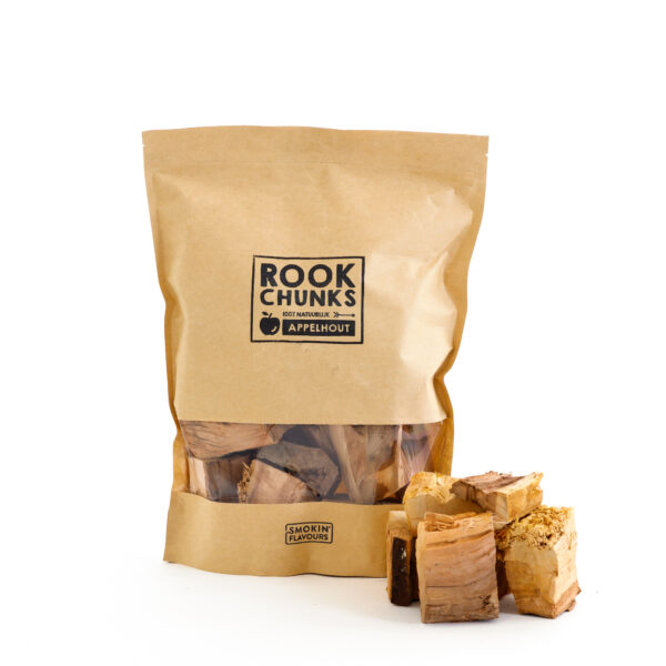 Rookhout Chunks 1,5 kg appel
